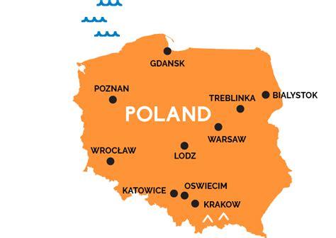 map  poland railpasscom