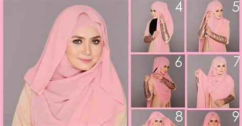 model tutorial hijab segi empat modis simple elegan