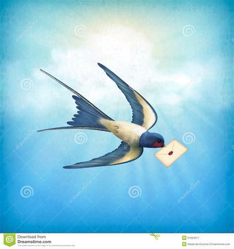un ou une troline courrier de lettre d oiseau de ciel illustration de vecteur image 31004077