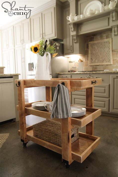 diy kitchen island cart diy rolling storage cart shanty 2 chic