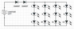 1w To 5w Led Driver Circuit With 12v Input  U2013 Circuits Diy