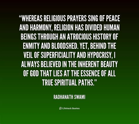 religious peace quotes blessings religion harmony quote hypocrisy quotesgram whereas prayers sing guaranteed berry