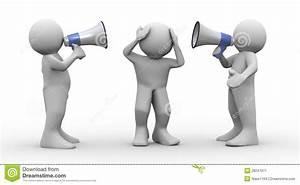 3d People Megaphone Announcement Stock Image - Image: 28247071