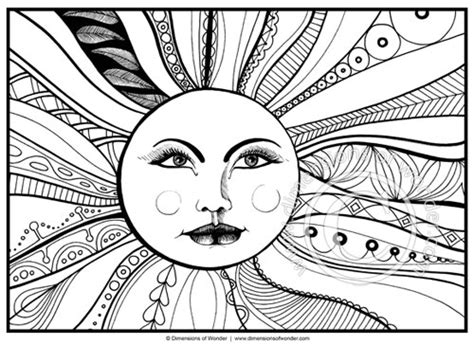sun coloring page printable dimensions