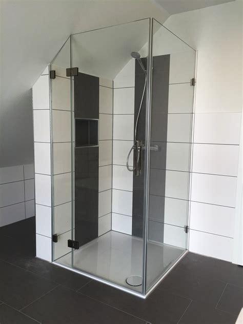 dusche unter dachschräge duschkabine aus glas meisterqualit 228 t aus hannover
