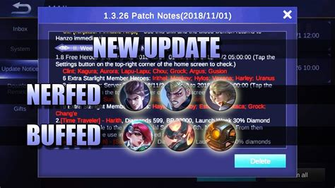 update claude kimmy gatotkaca patch notes mobile