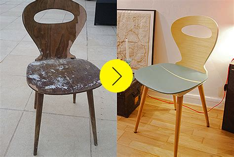 customiser une chaise before after a broken chair gets refurbished and