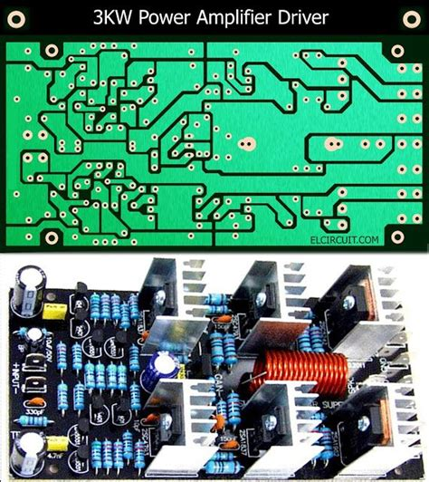 kw power amplifier driver circuit pcb layout