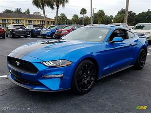 2019 Velocity Blue Ford Mustang EcoBoost Fastback #129797206 Photo #4 | GTCarLot.com - Car Color ...