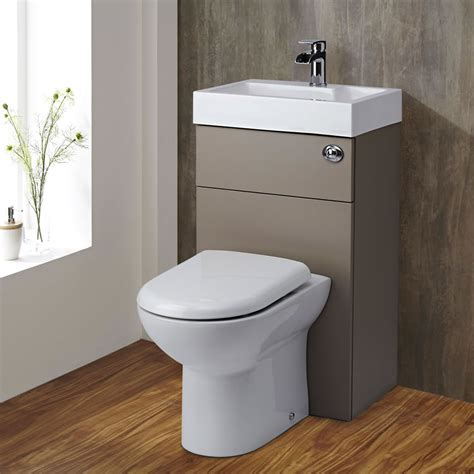 toilets small milano 2 in 1 toilet basin combination unit stone grey