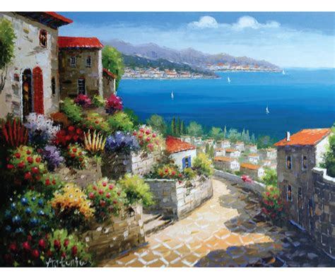 la tuscany hand painted oil painting