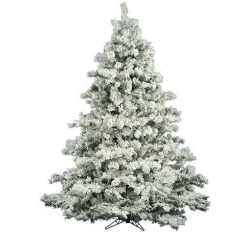 vickerman co flocked alaskan 6 5 white pine artificial