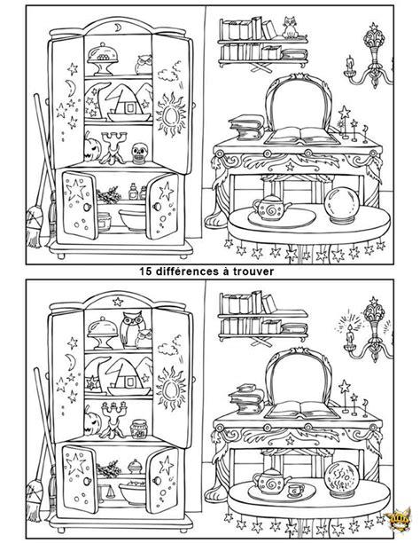 jeux de cuisine de maison de sorcière est un jeu à imprimer des différences