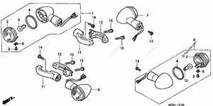 Honda Motorcycle 2003 Oem Parts Diagram For Front    Rear