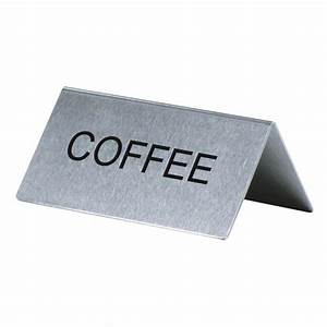 U0026quot, Coffee, U0026quot, Table, Tent, Sign, Stainless, Steel, 2, U0026quot