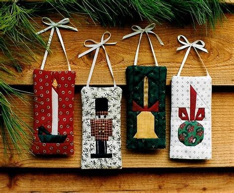 quilted christmas ornaments sewing pattern candle bell