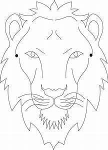 Lion Face Coloring Page - AZ Coloring Pages