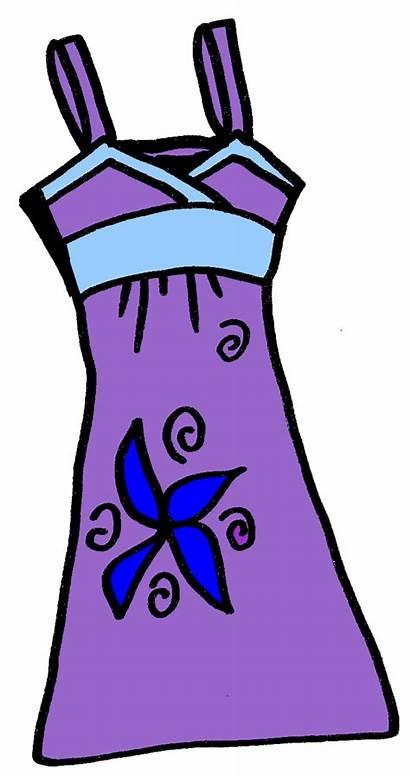 Clipart Summer Clip Clothes Cliparts Dresses Cloth