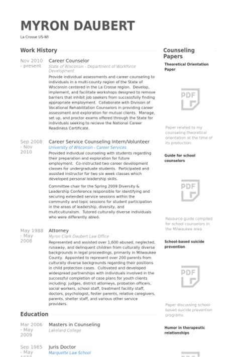 Career Development Counselor Resume by Career Counselor Resume Sles Visualcv Resume Sles Database