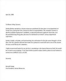 Job Recommendation Letter Sample