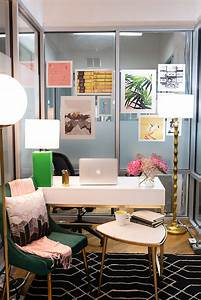 Small, Work, Office, Decorating, Ideas, Feminine, And, Glam, Office, Makeover