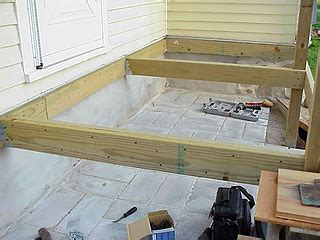 porch floor framing how to lay out and install deck