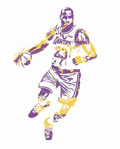 Lebron Lakers James Pixel Los Angeles Hamilton