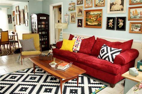 ikea sofa rot rotes sofa ins innendesign einbeziehen inspirierende rote sofas