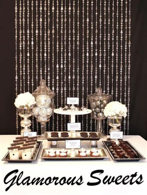 karas party ideas black white silver glamourous