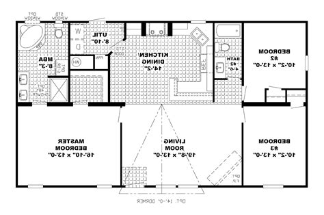 One Story Open Concept Floor Plans One Story House Plans