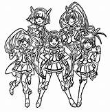 Glitter Force Coloring Characters Printable Kolorowanki Cure Smile Pretty Dzieci Dla Bestcoloringpagesforkids Lucky Anime Drawing Candy Wecoloringpage Salvo sketch template