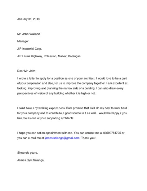 eira template cover letter cover letter  architect