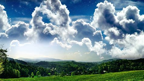 nature, Clouds, Grass, Sky Wallpapers HD / Desktop and ...