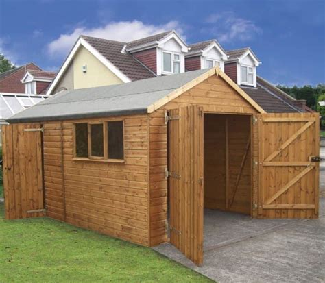 10 X 20 Garage by 20 X 10 Traditional Deluxe Wooden Garage What Shed
