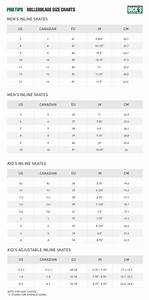 Inline Skates Size Charts