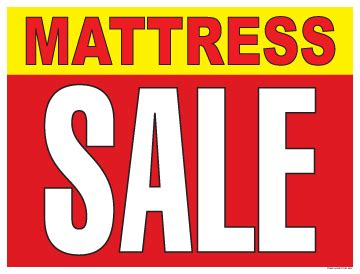 horizontal poster    mattress sale