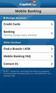 Capital One Bank Customer Service Capital One Releases Android App Pay Bills View Recent