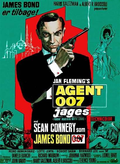 Bond Poster Release 1963 James Russia Danish