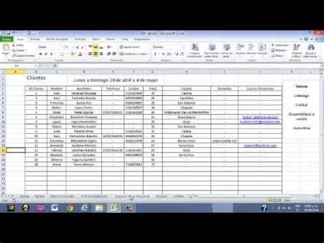 erp excel youtube