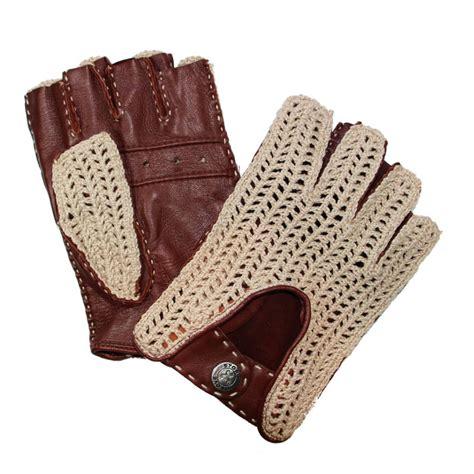 gants anti chaleur cuisine mitaines de conduite homme marron cuir crochet tous les