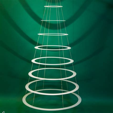 modern lighted christmas tree large hanging tree modern christmas trees