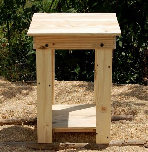 diy easy  build pallet nightstand  side table