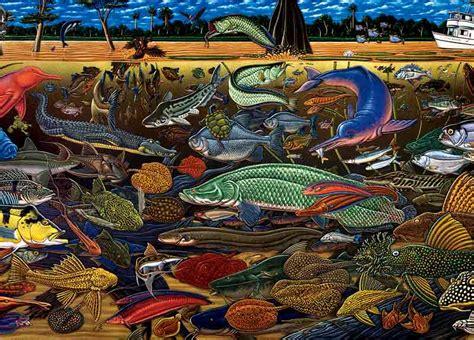 ray troll  story  fish fossils  funky art