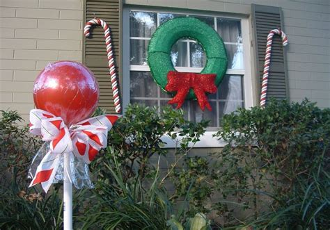 creative candy canes outdoor wall decor featuring unique