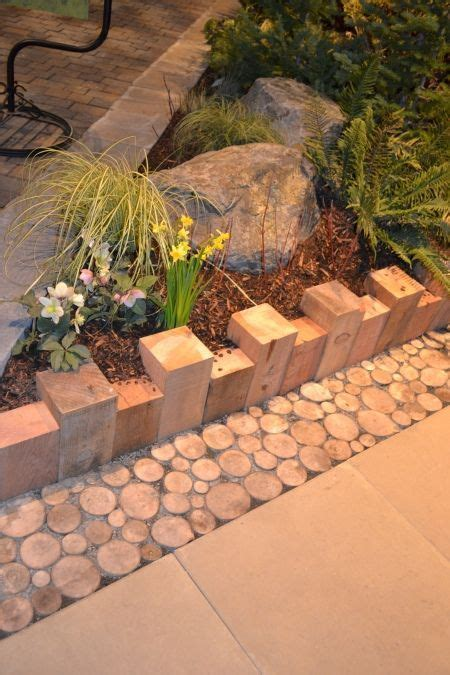 cheap creative  modern garden edging ideas