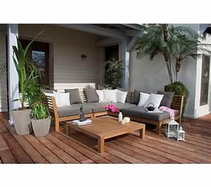 emejing salon de jardin bois angle photos amazing house With beautiful canape resine tressee exterieur 3 salon jardin en resine tressee festy canape dangle