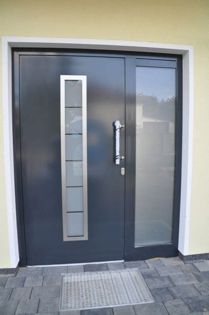 """madrid""  Stainless Steel Exterior Door With Sidelights"