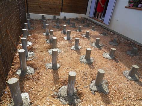 nivrem terrasse en bois pose sur plot diverses id 233 es de conception de patio en bois pour