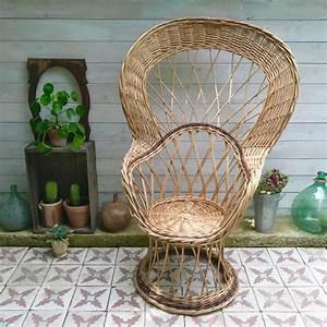 Fauteuil En Osier : grand fauteuil en osier brocanteandco boutique en ~ Melissatoandfro.com Idées de Décoration