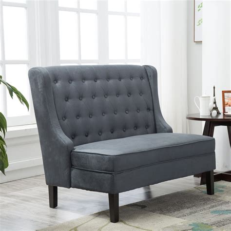 tufted settee furniture andeworld tufted loveaseat settee sofa bench for dining